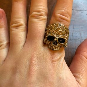 Bedazzled Skull Ring